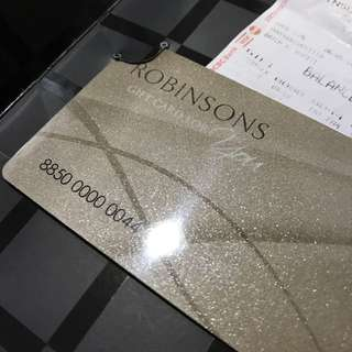 Robinson Gift Card Worth S$2000 Selling S$1800