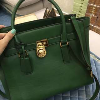 Authentic Michael Kors green Tote Sling Bag