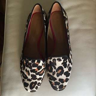 Banana Republic Leopard Print Loafers Size 7.5