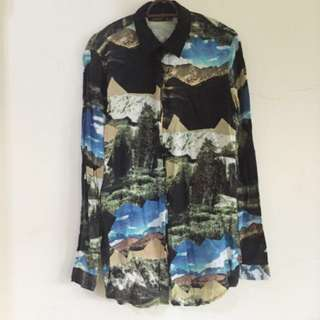 Scenery Printed Blouse