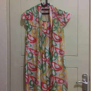 Colorful Dress Beach Party Size M