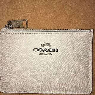 Coach 象牙白名片夾,鑰匙圈,零錢包