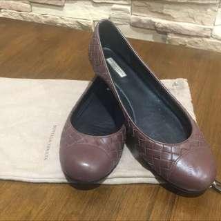 (Reduced $120)Preloved Bottega Venetta Leather Flats