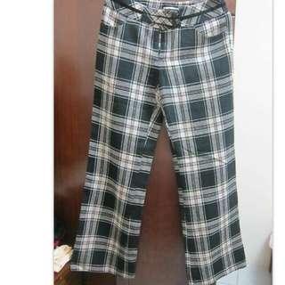 38號粉米格毛料長褲