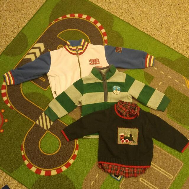3 Boy's Sweaters