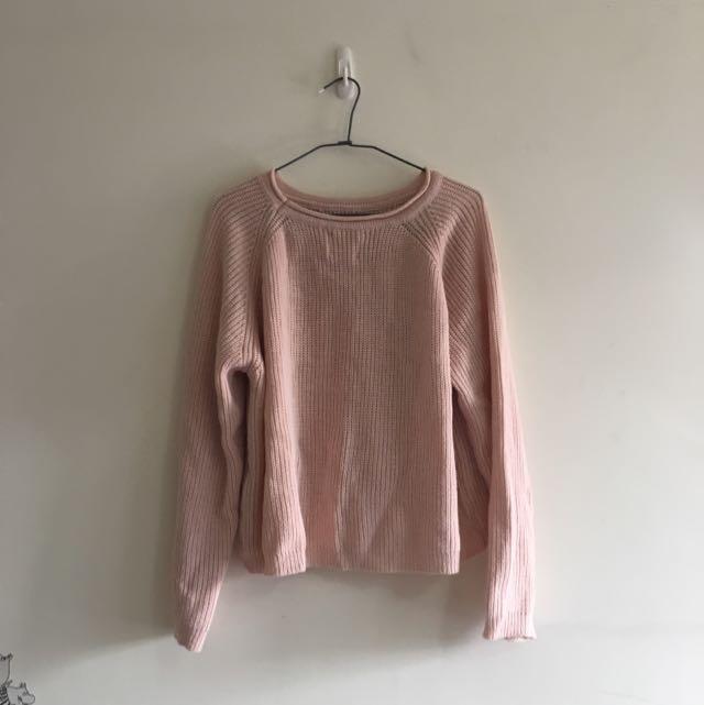 (保留中)溫暖的粉色毛衣兒