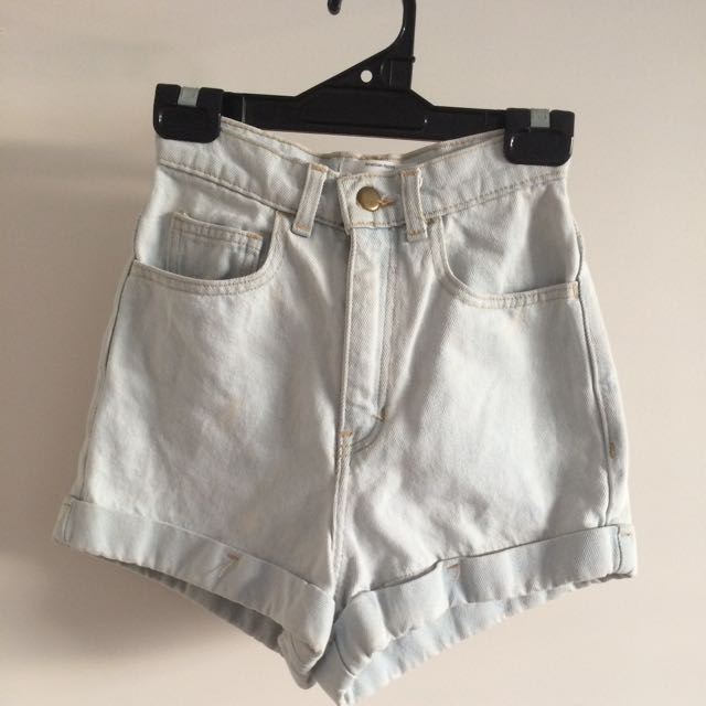 American Apparel High-waisted Shorts Size 6
