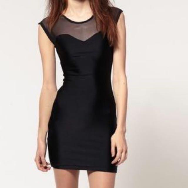 American Apparel Mesh Top Dress
