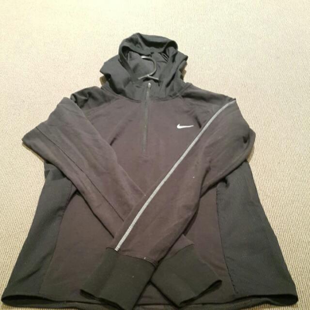 Authentic Nike Running Half Zip Long - Black