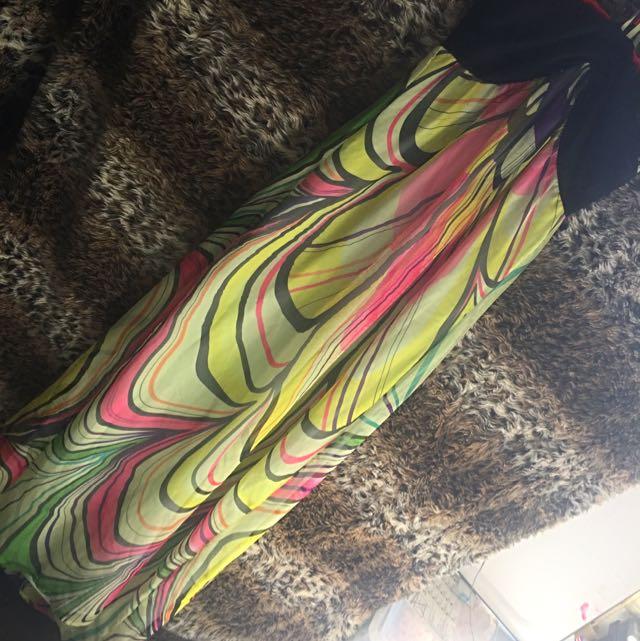 BebeSydney Chiffon Style Flowy Maxi Dress