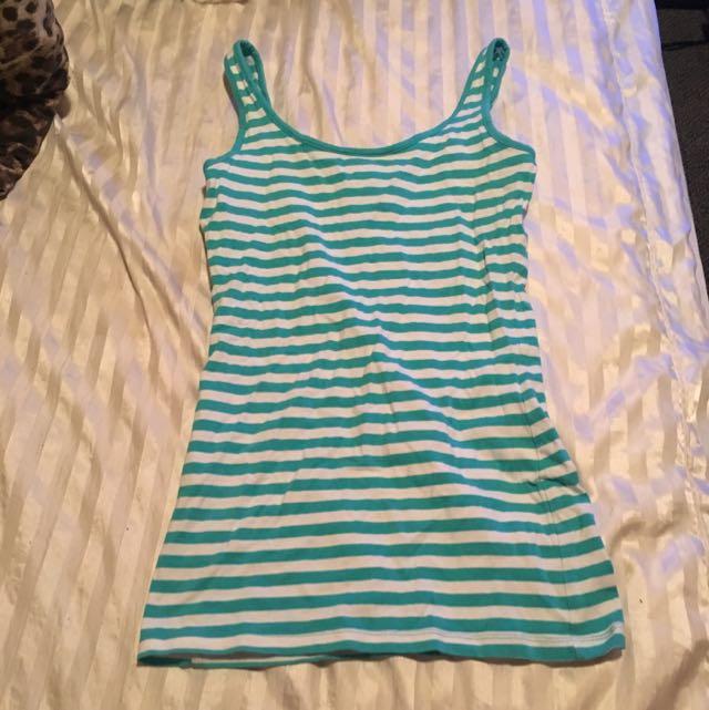 Blue Striped Singlet