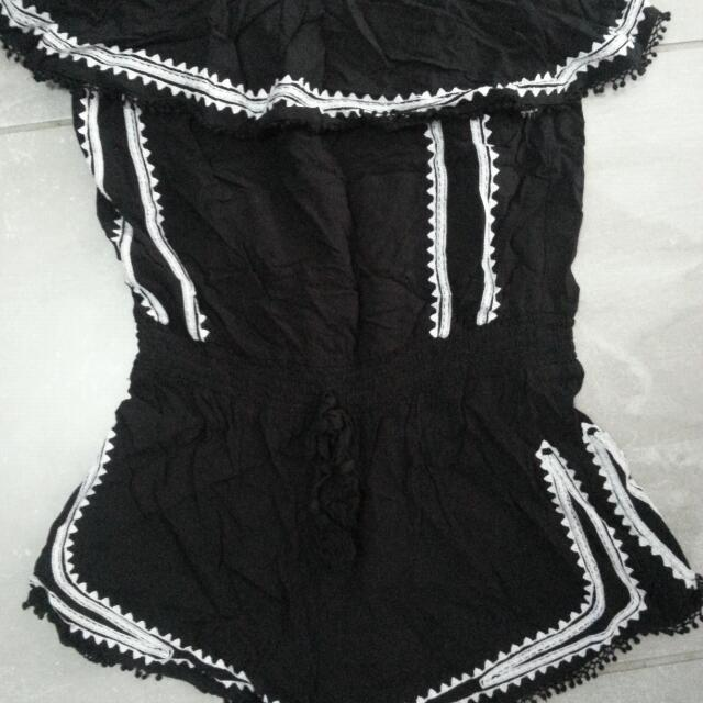 "BW ""SEED"" frilled playsuit"