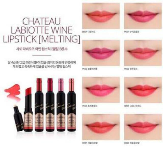 Chateau Labiotte Wine Lipstick Melting