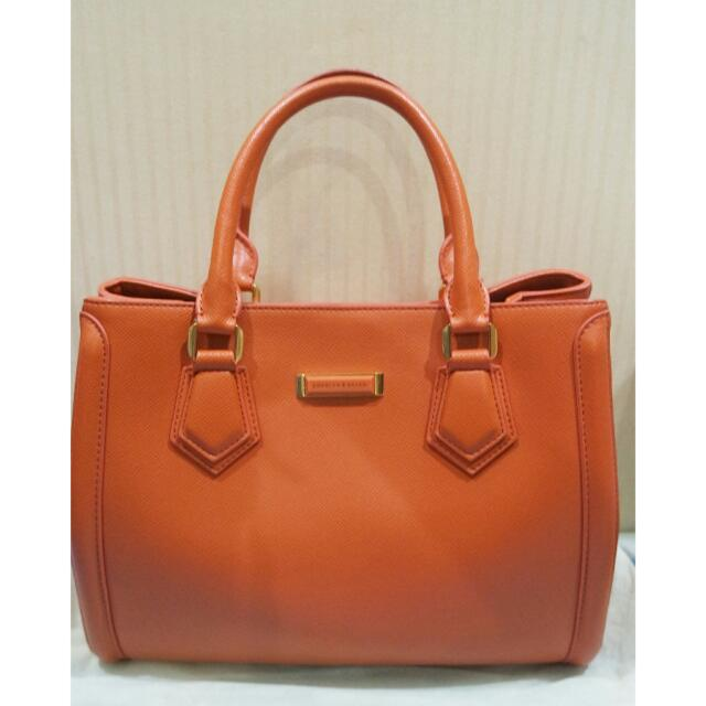 Charles And Keith Orange Bag