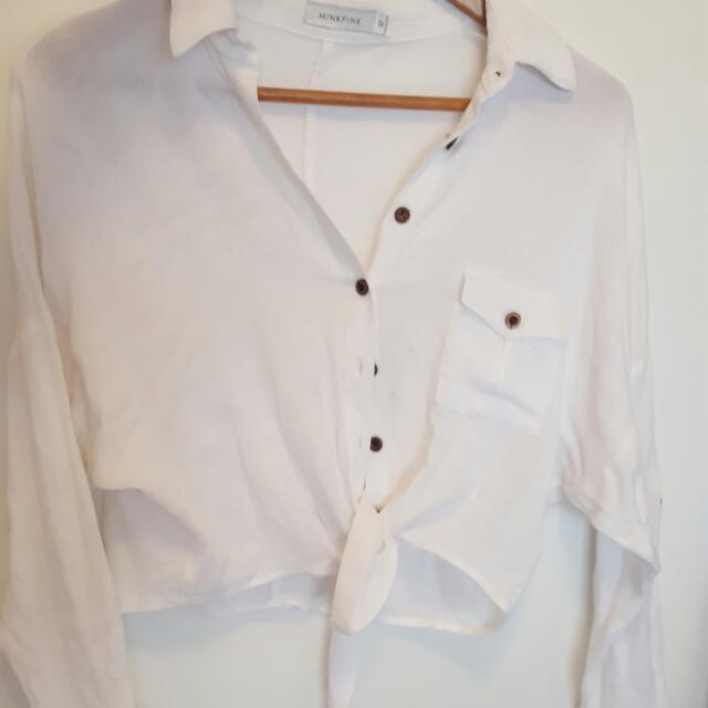 Cropped White Shirt