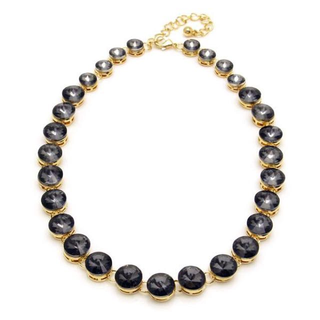 Crystal Gold Classic Vintage style Necklace