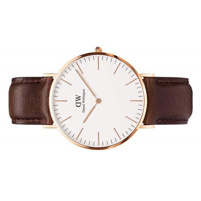 39e740914e Daniel Wellington Men s Dark Brown Leather Strap Watch 0109dw 40mm ...