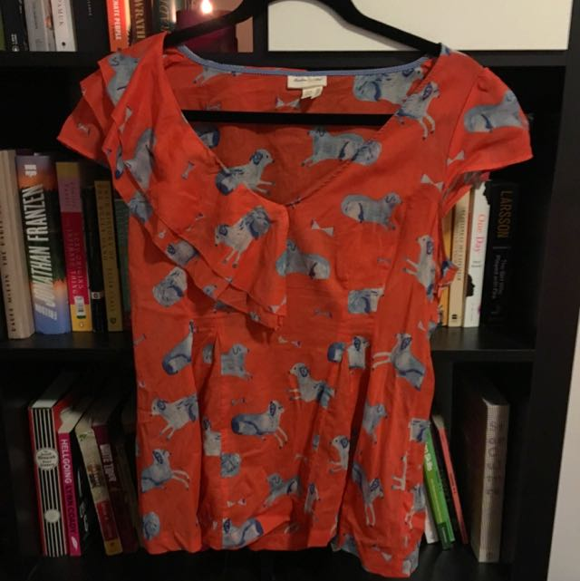 Dog Print Shirt From Anthropologie