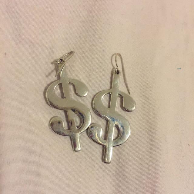 Dollar Sign Earring