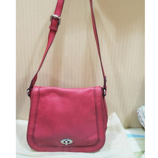 Fossil Fuschia Shoulder Bag