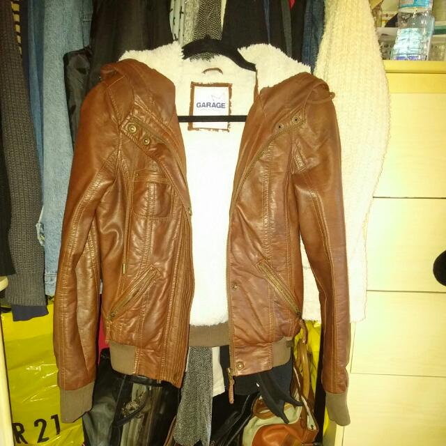 Garage Faux Leather Jacket