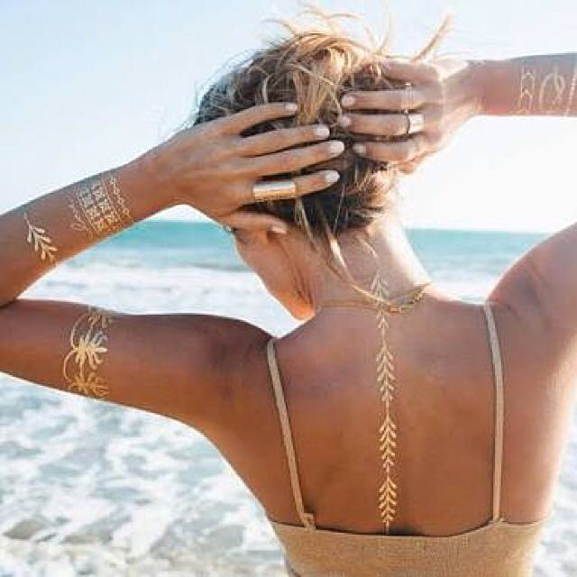 Gold And Silver Tattoos