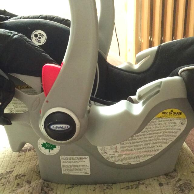 Graco Black and grey car seat