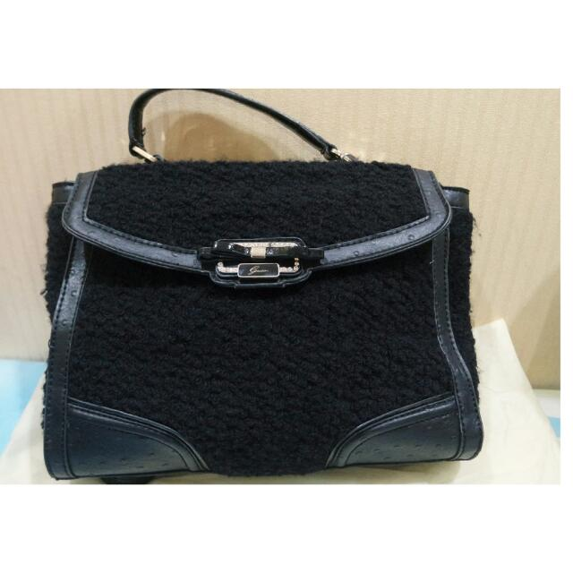 Guess Shoulder Wool Bag (With Long Strap)