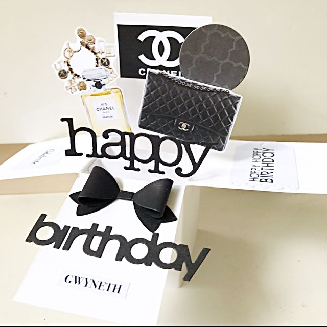Handmade Chanel Pop Up Birthday Card Design Craft