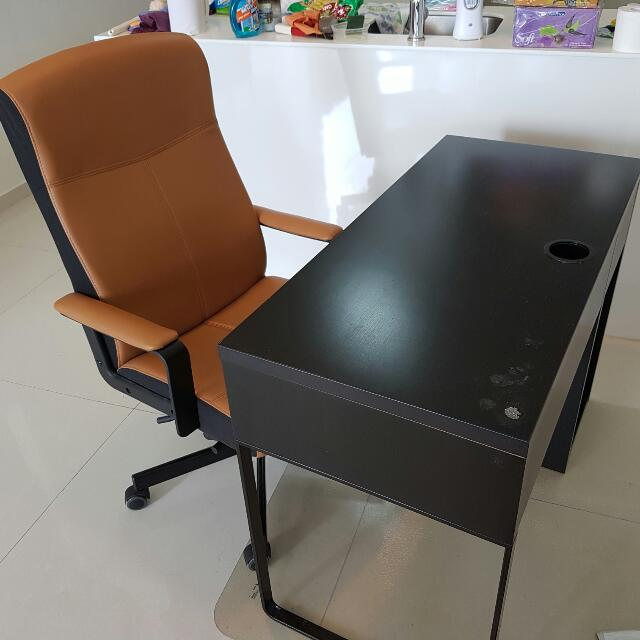 Ikea Micke Study Desk And Executive Chair
