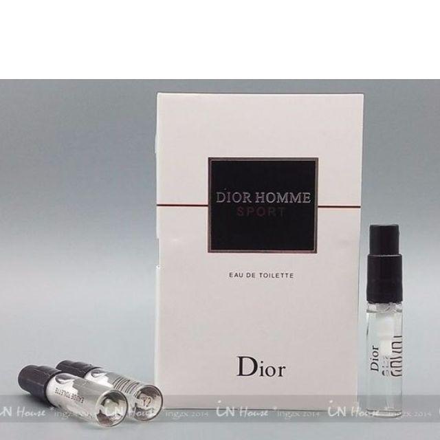 best website a2bb2 12421 IN House* Christian Dior CD Homme Sport 迪奧運動男性淡香水隨身針管試用瓶 2ml