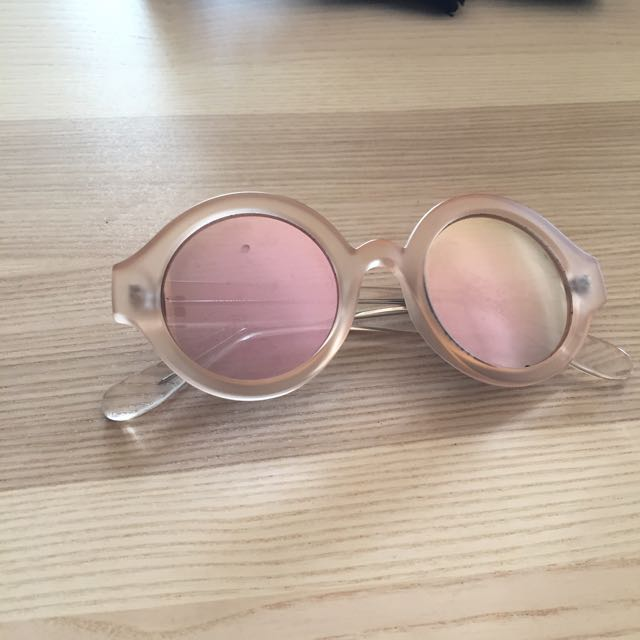 INSIGHT Matte Baby Pink Sunglasses
