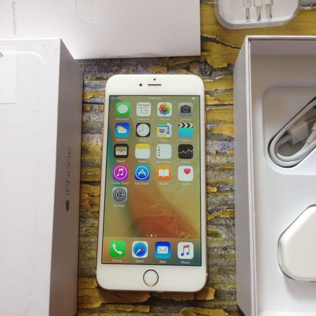iPhone 6 Plus 64GB GOLD, 6+, Fullset Dan FU. No Minus