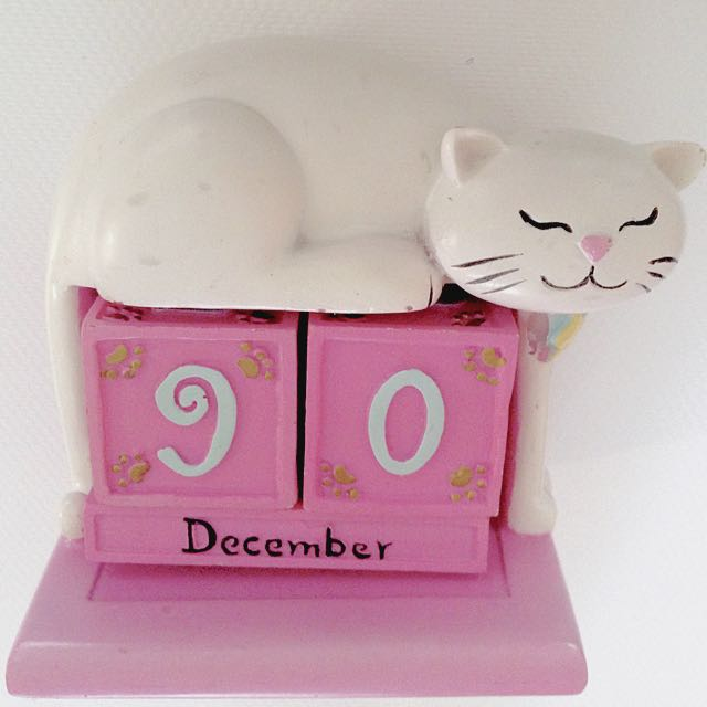 Kitty Cat Calendar Block Reminder Cubes
