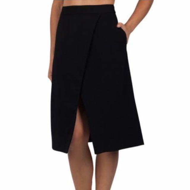 Kookai New York skirt Sz 38 Black #1212sale