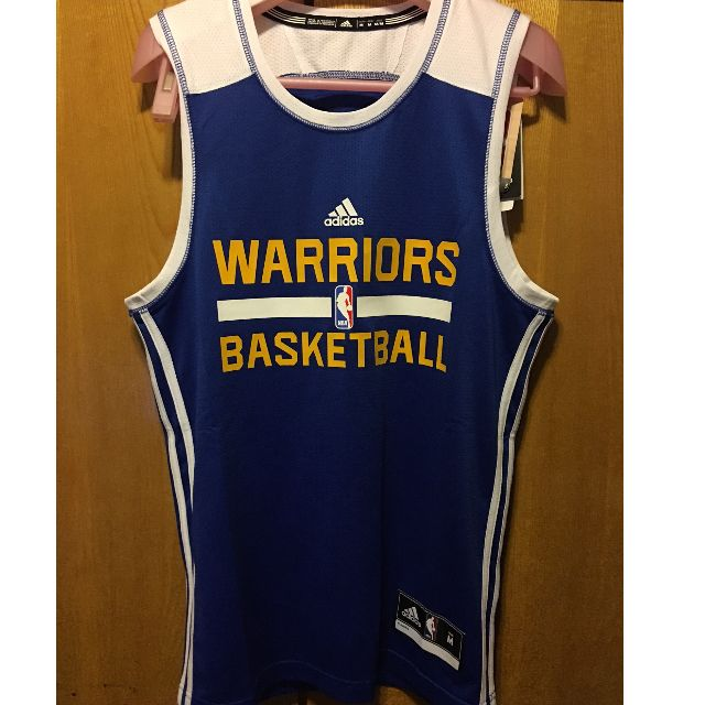 Mens Golden State Warriors adidas Royal Blue Practice Mesh Tank Top SZ M 2794a3ced