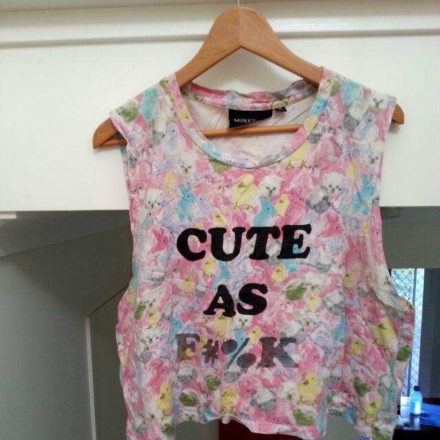 Minkpink 'Cute Af' Crop-Top