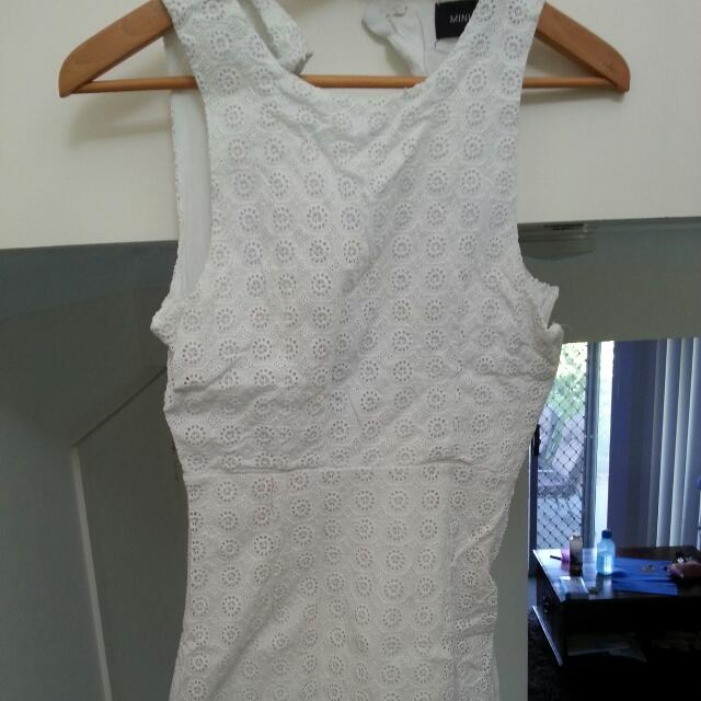 MinkPink White Detailed Dress