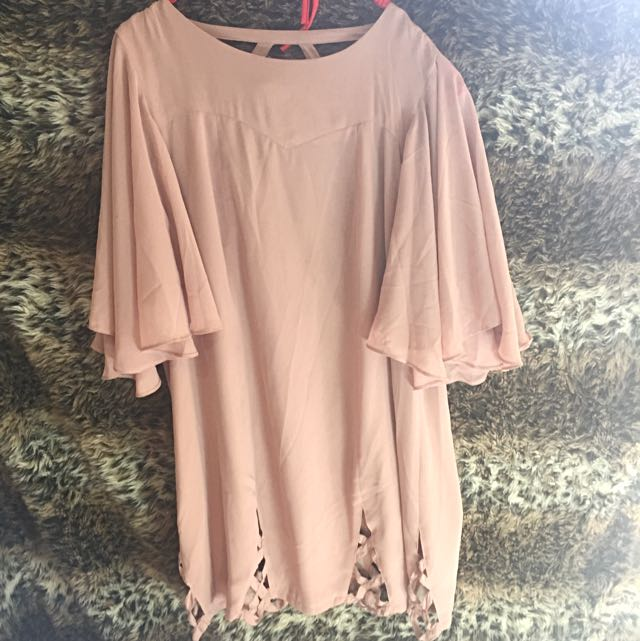 Miss Unkon Pale Pink Cut Out Dress