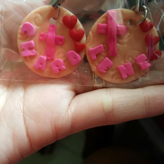 name keychains polymer clay