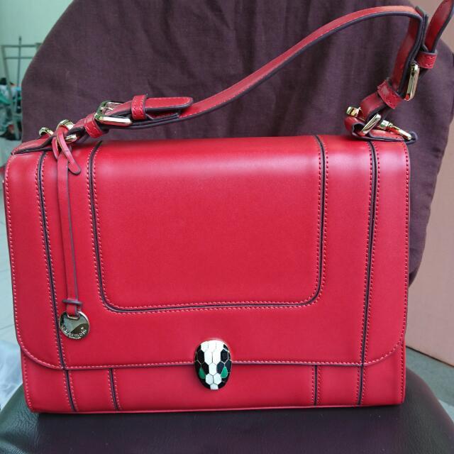 Obermain Red Large Handbag