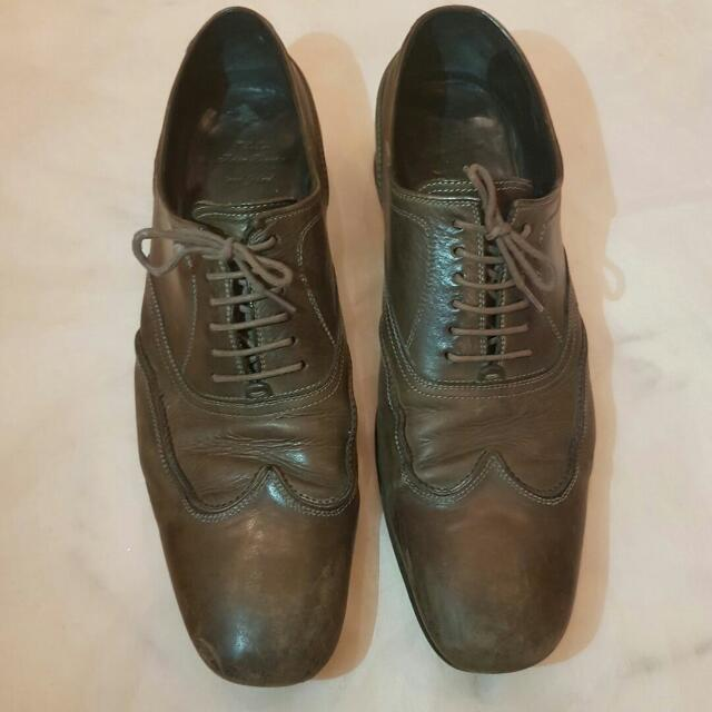 ORI AUTHENTIC LEATHER LACEUP SHOES BATSANIS SIZE 40