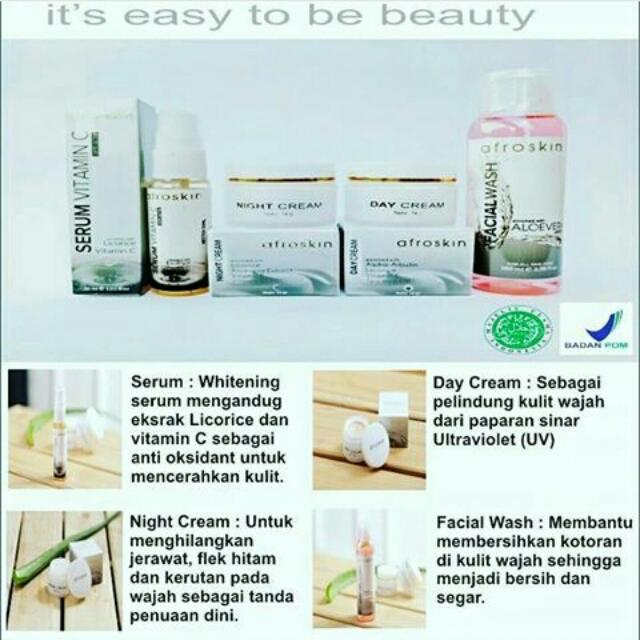 Paket Cream Wajah Afro Skincare Jerawat/normal