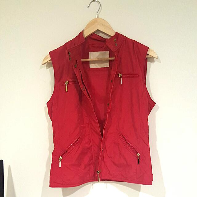 Red Zara Vest