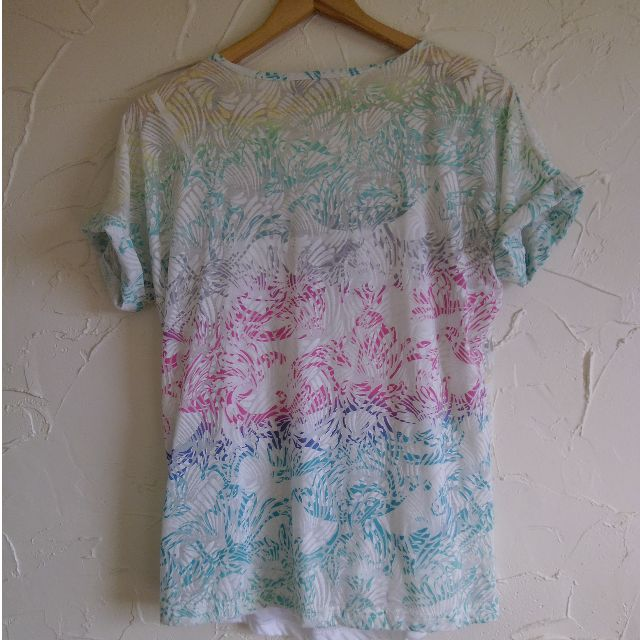 Size S Ella J Sheer Rainbow Shirt with Cami