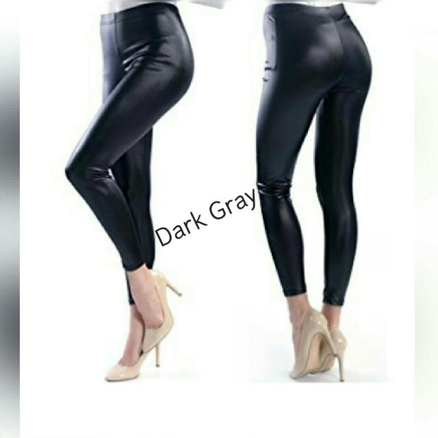 Skinny Faux Leather Low Waisted Legging
