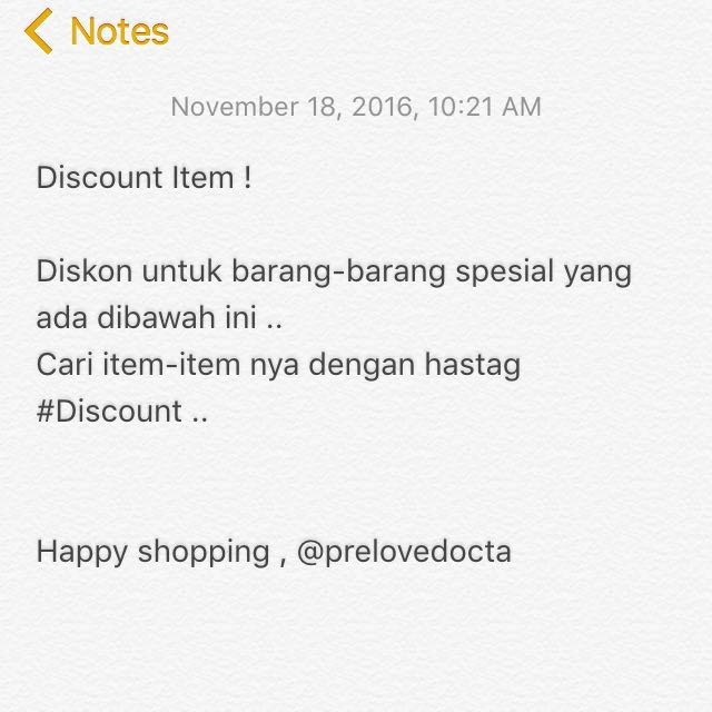 Special Item Special Discount !