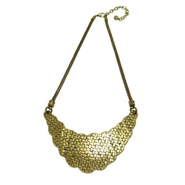 Statement Scallop Mesh Rock Glam Necklace
