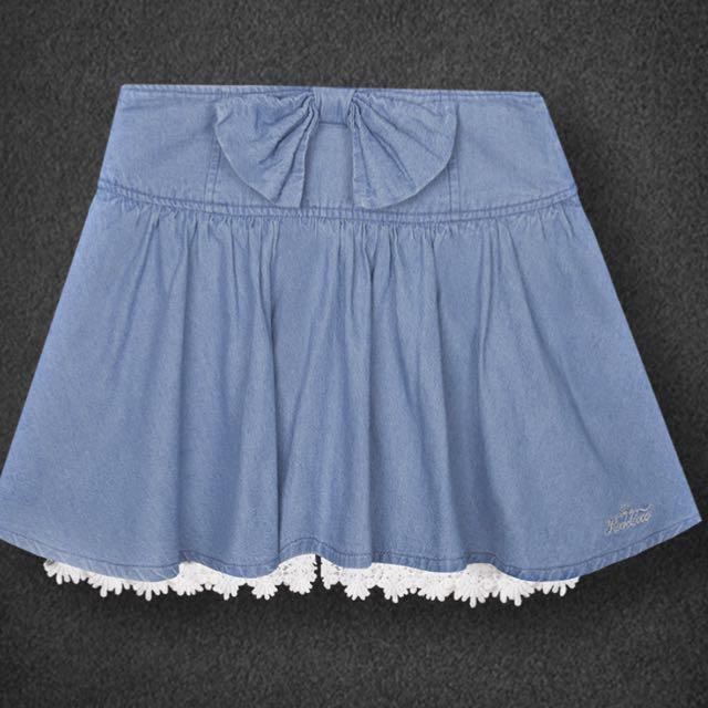 Stayreal 藍色褲裙