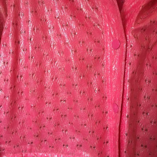 Topshop Pink Raincoat